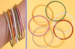 Indian Bangle Bracelets in set of Assorted Colors