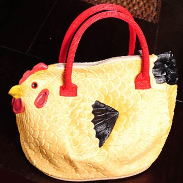 Chicken Purse: Adorable Chicken Shaped Hand Bag