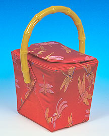 Chinese Dragonfly Take Out Box Purse