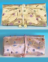 Satin Jewelry Roll Bag