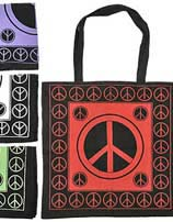 Peace Sign Shopping Bag 18 Inches