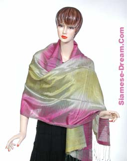 Deluxe Silk Scarves From Thailand with Multilple Colors