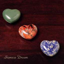 Heart Stones Made of Natural Crystals