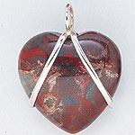 Heart Stone Necklace Pendants